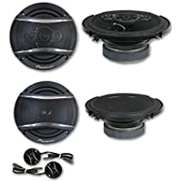 Pioneer Package Deal 6.5 2-way car component system + 6.5 car 2-way coaxial speakers
