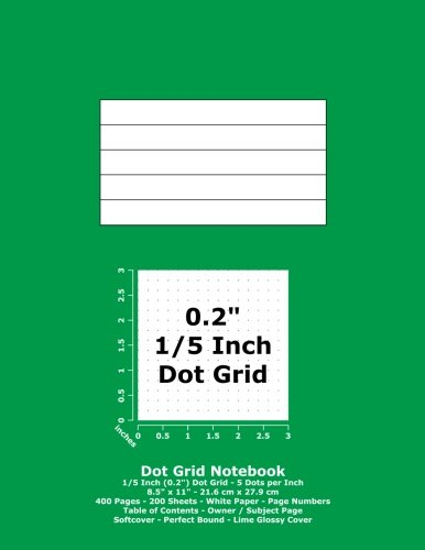 Dot Grid Notebook: 0.2 Inch (1/5