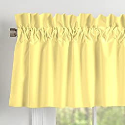 Carousel Designs Solid Banana Window Valance Rod Pocket