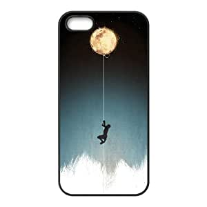 UNI-BEE PHONE CASE For Apple Iphone 5 5S Cases -Bright Moon-CASE-STYLE 19