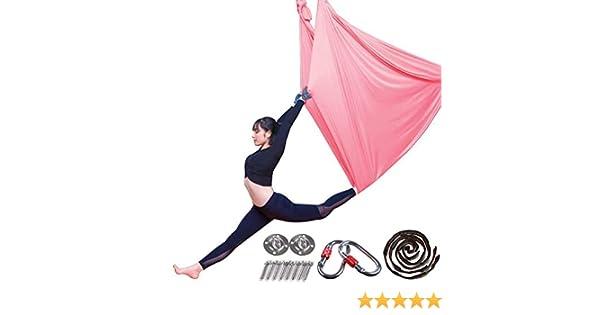 Aerial Yoga Hamaca Pilates Trapez Silk elástico Toalla de Yoga ...
