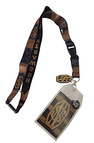 Price comparison product image Fantastic Beasts Newt Hogwarts D/S Lanyard Keychain ID Holder W Charm & Sticker