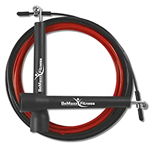 Speed Rope Springseil II von BeMaxx Fitness + Trainingsguide & Extra Seil -...