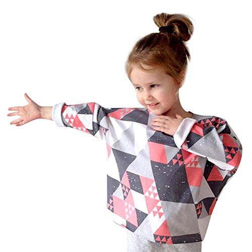 Family Clothes Mommy and Me Baby Girls Long Sleeves Geometry Print Tops Blouse (6 years old, Multicolor)