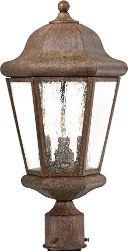 - Minka Lavery Outdoor Post Lights 8616-A61 Taylor Court Exterior Lighting Fixture, 180 Watts, Rust