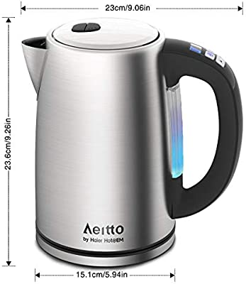 Aeitto - Hervidor de agua de acero inoxidable con regulación de ...
