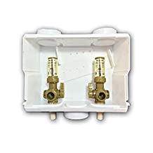Ayrlett 2083-PCD Pre-Assembled Multi-Pro Washing Machine Box with 1/4 Turn Valves and PEX Connection, Brass
