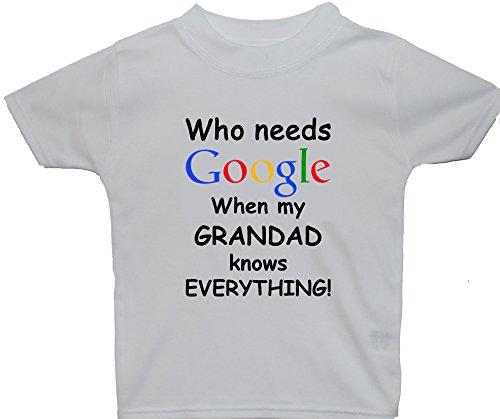 ha a tutto sa Google per di bambino corte maniche bambino bianco anni maglietta Chi mia Grandad anziano quando 5 0 bisogno la dqPdXY