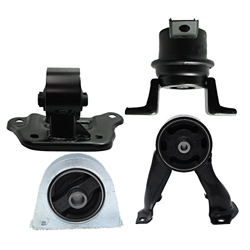 Engine Motor and Trans Mount Set of 4 for 2002 - 2007 Mitsubishi Lancer 2.0L Compatible with Automatic Trans - 2003 Mitsubishi Lancer Engine
