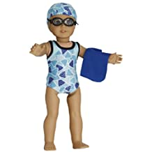 BUYS BY BELLA Competition Swimsuit for 18 Inch Dolls Like American Girl