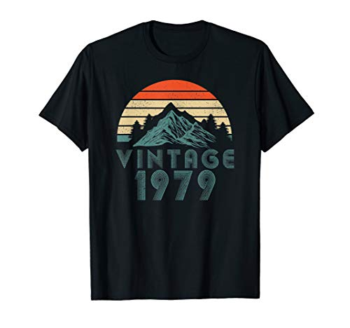 (40 Years Old 1979 Vintage 40th Birthday T Shirt Mountain)