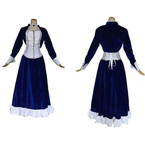 Cuterole Women Bioshock Infinite Elizabeth Cosplay Costume Blue Velvet Dress (Elizabeth Bioshock Cosplay Costume)