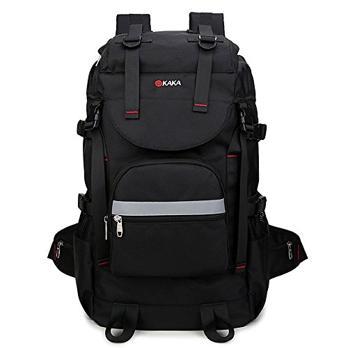 KAKA Hiking Backpack Fits Up to 15.6 inch Laptop Black #2100