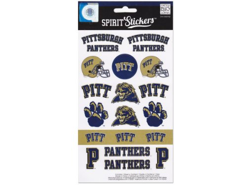 me & my BIG ideas Officially Licensed NCAA Spirit Stickers, Pittsburgh ()