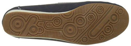 Confort zapatos mocasines mujer azul pequeña cuña