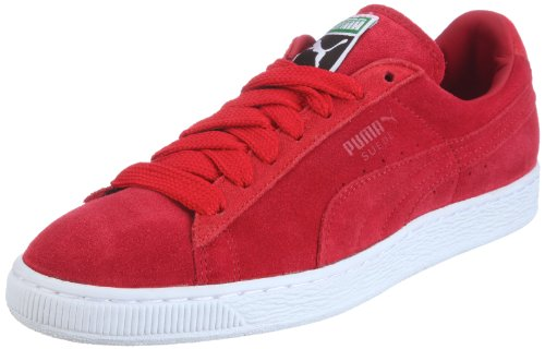 (PUMA Men's Suede Classic + Low-Top Sneakers Red Size: 11)