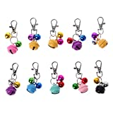 Kimnny Pet Jingle Bell, Colorful Pet Dog Cat Collar Animal Bell Necklace Accessories for Collar Loud Bell Kitten Safety