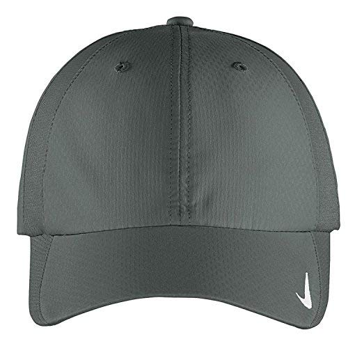 (Nike Authentic Sphere Quick Dry Low Profile Swoosh Embroidered Adjustable Cap - Charcoal)
