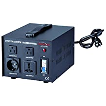 Simran Voltage Transformer, 1500 Watt, Step Up and Down, 110 Volt, 220 Volt Power Converter , Black (ACN-1500)