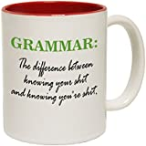 123t Mugs Grammar The Difference Between Knowing Your S Ceramic Slogan Cup With Red Interior by 123t Mugs