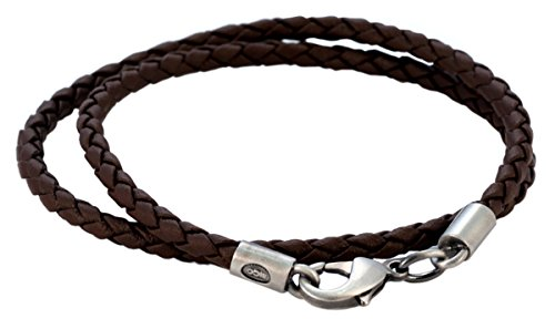 Bico 0 16 Brown Braided Necklace