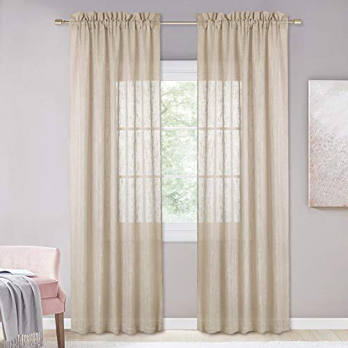 NICETOWN Lined Look Voile Curtains - 95