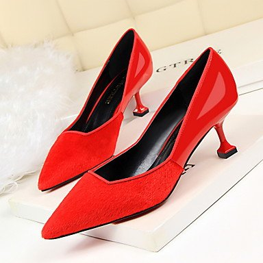 EU35 Spring Stiletto Women'sHeels Heel Comfort Fall CN34 Dress US5 UK3 Suede RwwFq8