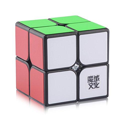 D-FantiX Moyu Lingpo 2x2 Speed Cube Magic Cube 2x2x2 Puzzle Cube 50mm Black