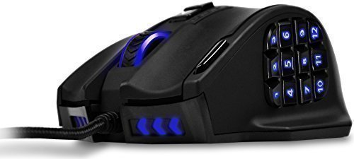 UtechSmart Venus 16400 DPI High Precision Laser MMO Gaming Mouse Upgraded Version