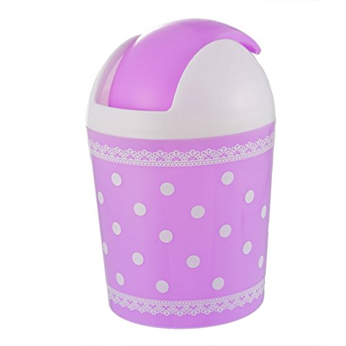 Hoomall Garbage Rubbish Wastebasket Purple