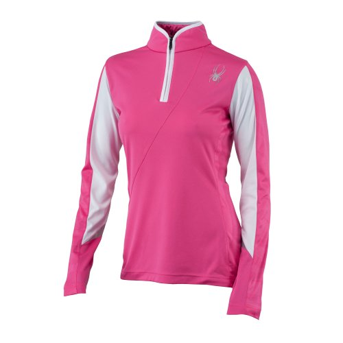 Spyder Voltaic Women's Dry W.E.B. Turtleneck Hot Pink/White 6