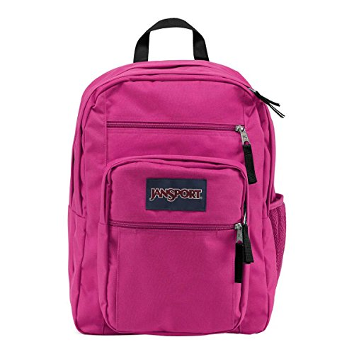 JanSport Womens Classic Mainstream Big Student Backpack - Cyber Pink / 17.5