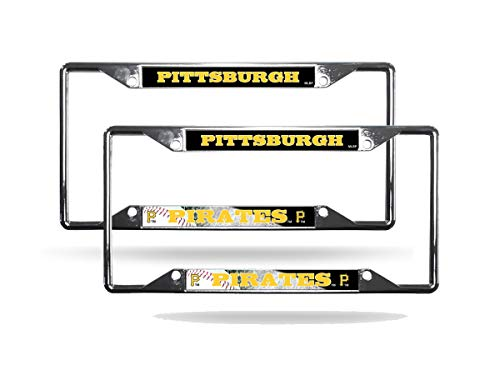 Rico Pittsburgh Pirates MLB (Set of 2) Chrome EZ View License Plate Frames