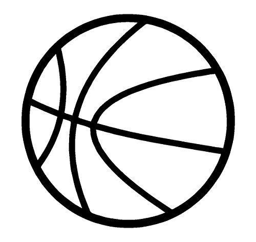 Basketball White Sports Decal Car Window Sticker