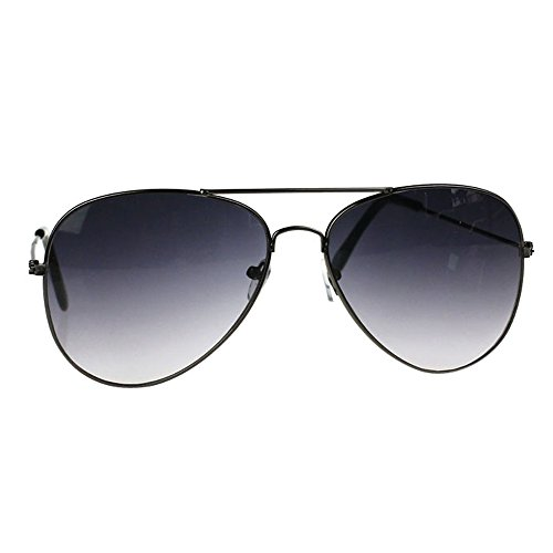 Mirrored Aviator Sunglasses Polarized Flash Mirror Lens UV400 (Gray) ()