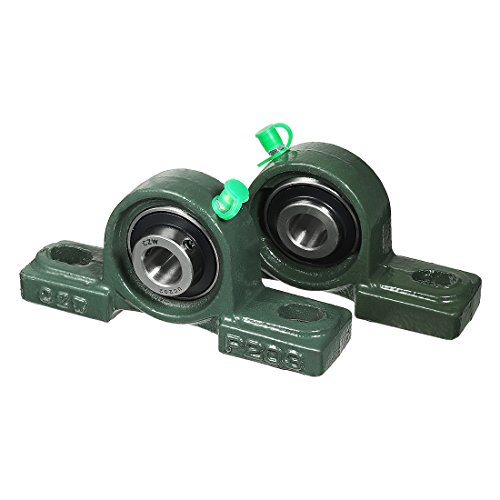 uxcell 2pcs Self-Alignment Pillow Block Bearing UCP202 15mm Mounted Bear ()