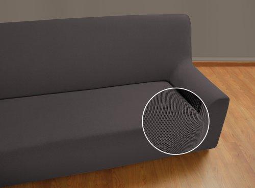 VELFONT - Bielastischer Sofabezug Universal - 3-Sitzer - Grau - verfügbar in verschiedenen Größen und Farben