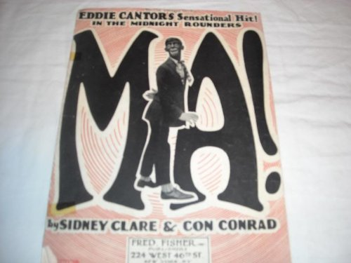 MA! SIDNEY CLARE 1921 TAPED SHEET MUSIC