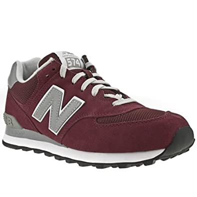 0001c708d0c96 New Balance 574 - 7 Uk - Burgundy - Suede: Amazon.co.uk: Shoes & Bags