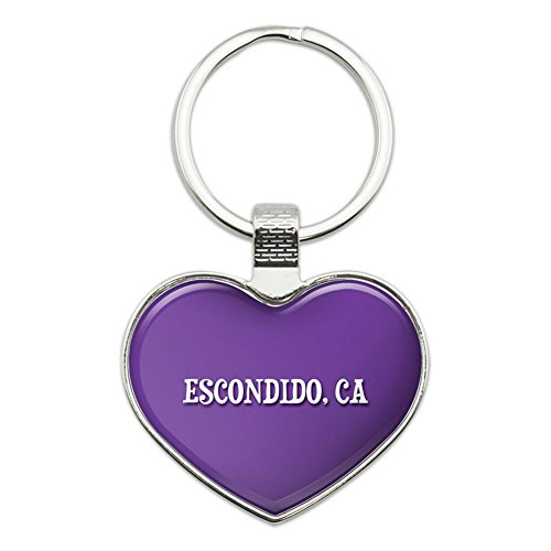 graphics-and-more-metal-keychain-key-chain-ring-purple-i-love-heart-city-state-c-e-escondido-ca