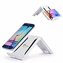 Itian Qi Three Coils Wireless Pad A6 for Samsung S6 S6 edge S5 Note4 Note3 LG G3 G2 Vu2 Google Nexus4 5 6 7 Nokia 920 Moto Droid Maxx Droid Mini Moto 360 Watch Sony Xperia Z3V HTC Droid DNA HTC 8X(AC adapter NOT included)-White