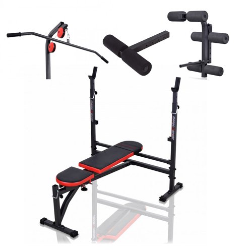 Banc + équipement MH-Z144 Marbo-Sport poste multi gym home musculation station set