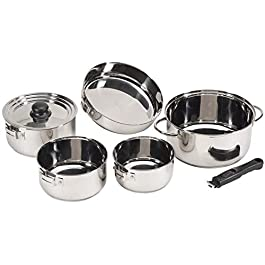 STANSPORT – Heavy Duty 7-Piece Stainless Steel Clad Cookware Set