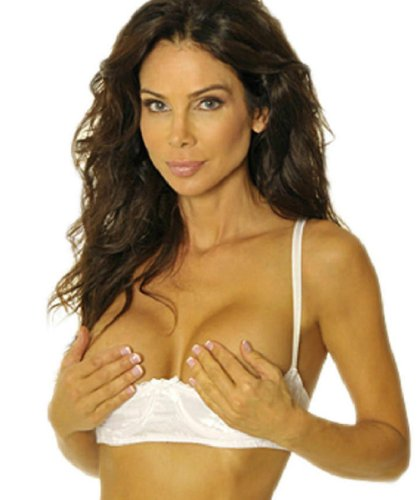 Empire Intimates Jacquard Shelf Bra Open Cup Show Nipples - WHITE - Size 34