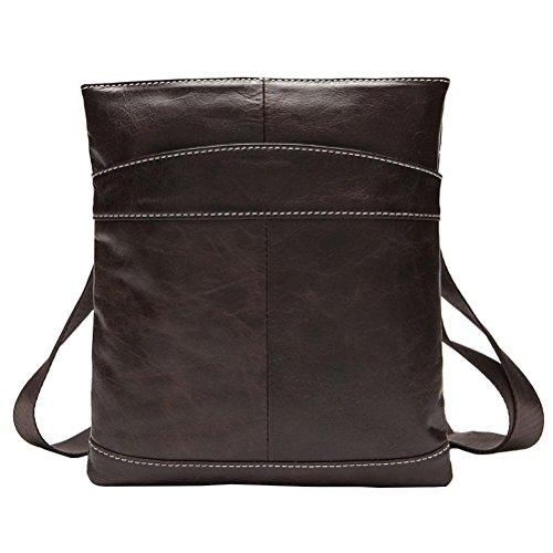 Male profundo Negro Café Bag Custom Package Leather Hombre Crossbody 703 Leisure Leisure Compartimiento Interior OS5qwgxf5R