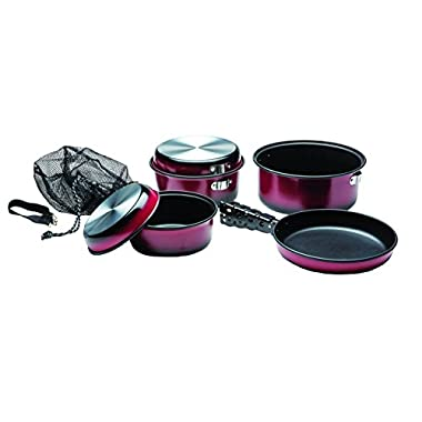 Texsport Kangaroo 7 pc Camping Cookware Outdoor Cook Set with Storage Bag