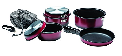 Texsport Kangaroo 7 pc Camping Cookware Outdoor Cook Set with Storage ()
