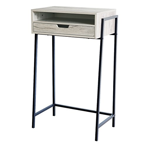 Furnigance Multi-use Standing Desk Stand Up Desk Workstation Mini Bar Snack Table with Storage Drawers for Home Office by Furnigance