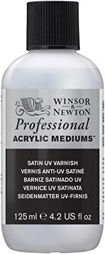 Winsor & Newton Professional Acrylic Medium Satin UV Varnish, 125ml