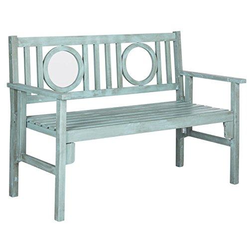 Outdoor Beach House Collection (Safavieh Outdoor Collection Piedmont Folding Bench, Beach House Blue)